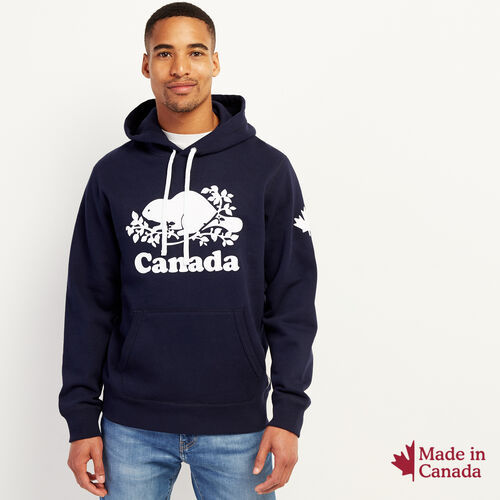 Roots-New For October Canada Collection By Roots™-Mens Cooper Canada Hoody-Navy Blazer-A
