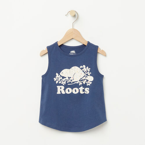 Roots-Kids Toddler Girls-Toddler Classic Cooper Tank-Force Blue-A