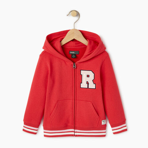 Roots-Kids Toddler Girls-Toddler Alumni Full Zip Hoody-Chrysanthemum-A