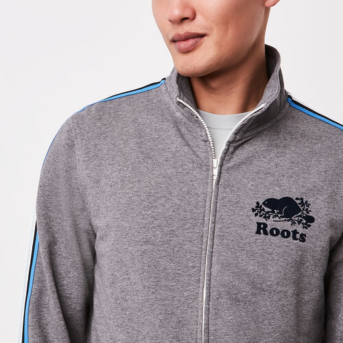 Roots-Sale Sweats-National Track Jacket-Med Grey Mix-A