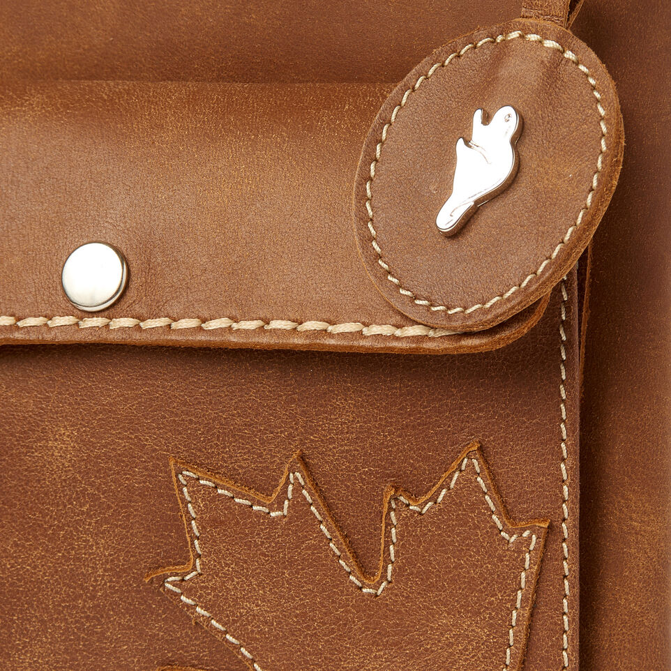 Roots-Leather  Handcrafted By Us Categories-Trans Canada Urban Pouch-Natural-E