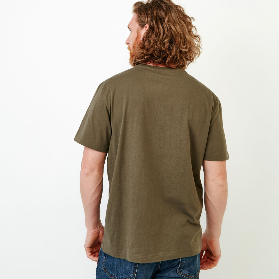 Roots-Men New Arrivals-Mens Cooper Beaver T-shirt-Fatigue-E