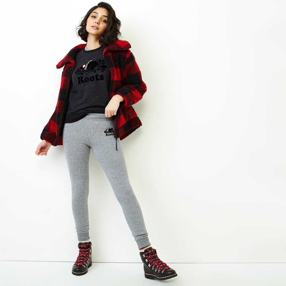 Roots-Women Our Favourite New Arrivals-Buddy Cozy Skinny Sweatpant-Salt & Pepper-B