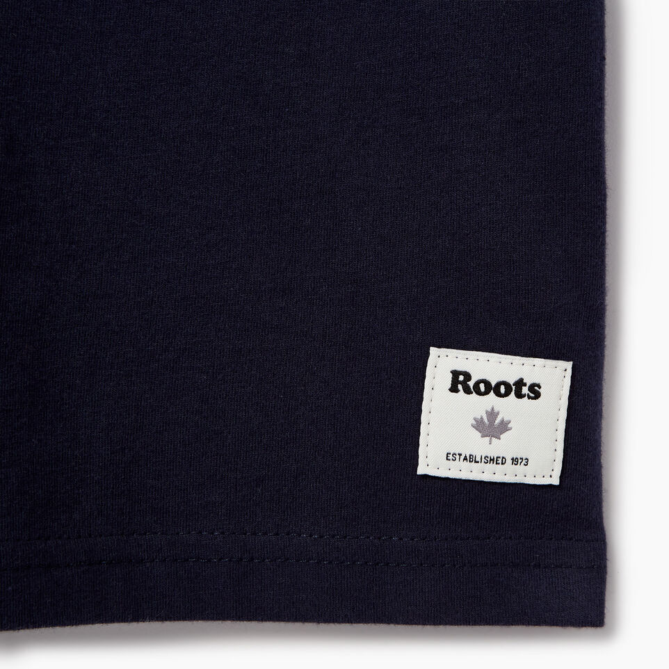 Roots-Kids Our Favourite New Arrivals-Boys Roots Patches T-shirt-Navy Blazer-C