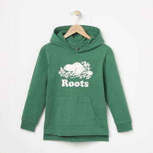 Roots-Kids Tops-Boys Heavyweight Jersey Hoody-Foliage Green-A
