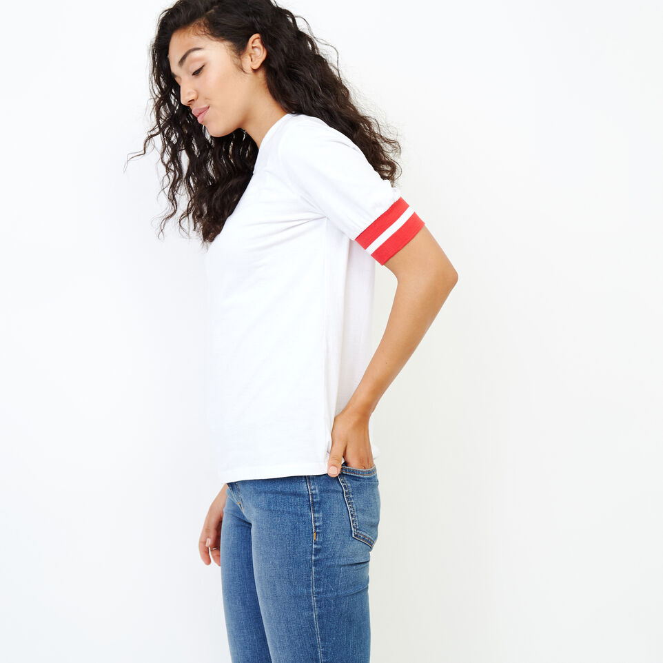 Roots-New For January Women-Vanness T-shirt-Crisp White-C