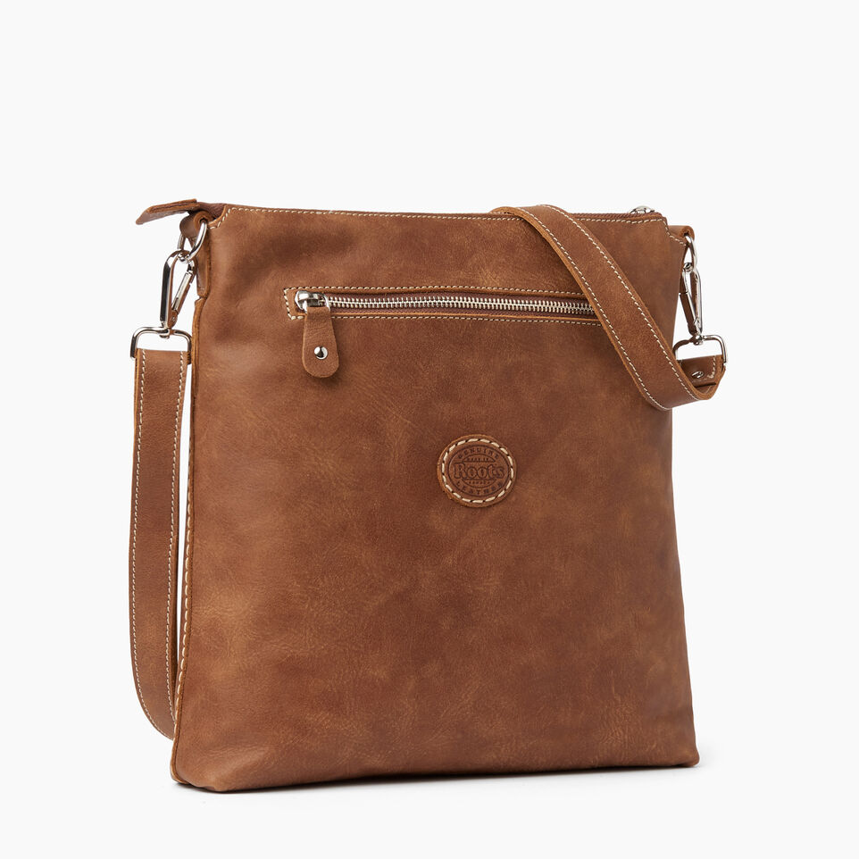 Roots-Leather  Handcrafted By Us Handbags-Canadian Villager-Natural-C