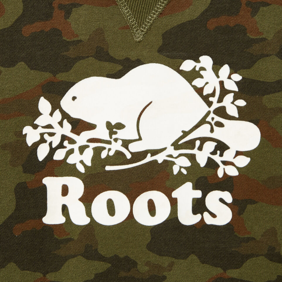Roots-Kids Our Favourite New Arrivals-Boys Camo Sweatshirt-Winter Moss Green-D