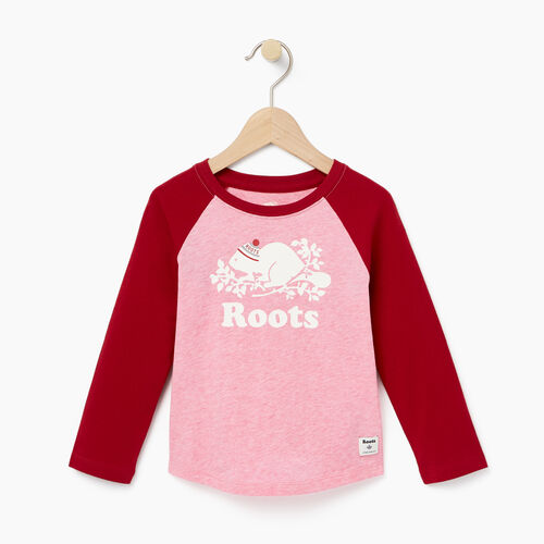 Roots-Gifts Buddy The Beaver-Toddler Buddy Raglan T-shirt-Cabin Red-A
