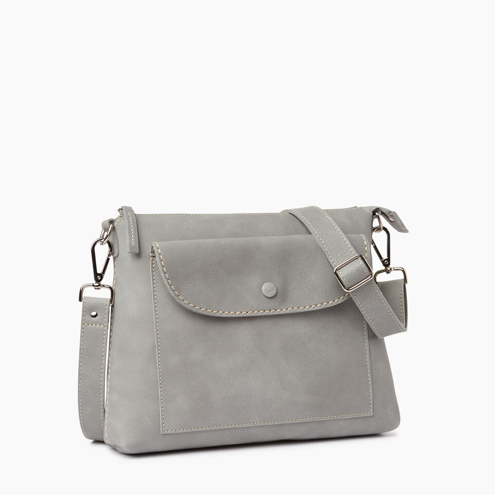 Roots-Leather  Handcrafted By Us Our Favourite New Arrivals-Richmond Crossbody-Quartz-A