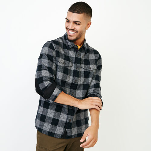Roots-Men Shirts & Polos-Park Plaid Shirt-Salt & Pepper-A