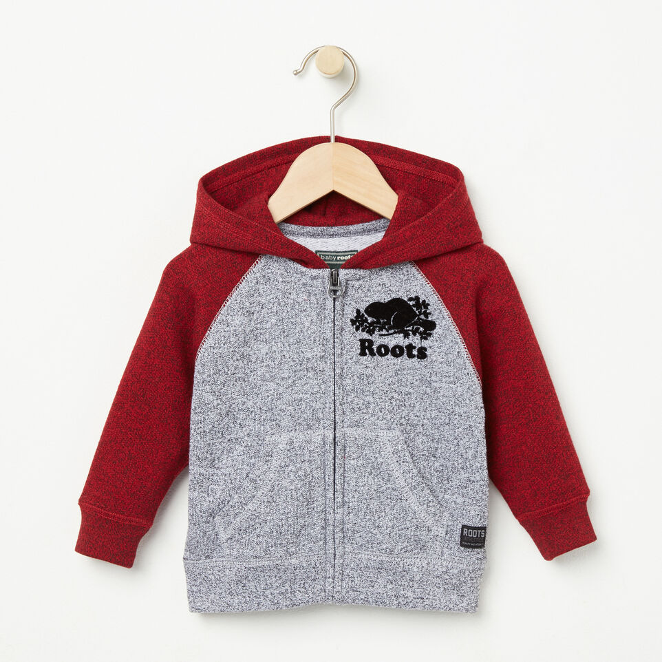 Roots-undefined-Baby Contrast Full Zip Hoody-undefined-A