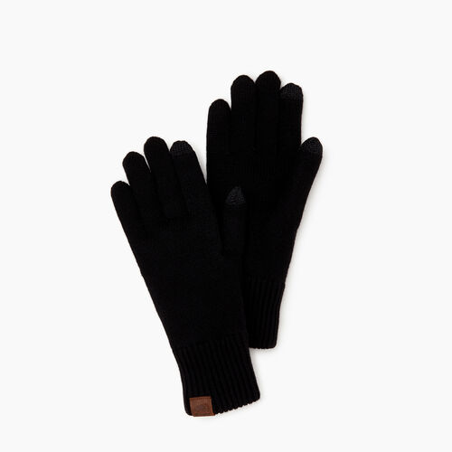 Roots-Women Categories-Robson Texting Glove-Black-A