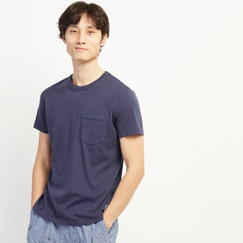 Roots-Men Clothing-Essential Pocket T-shirt-Federal Blue-A