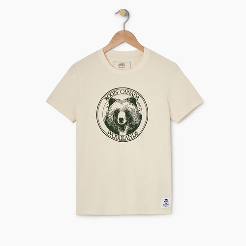 Roots-New For April Heather Cooper Collection-Womens Cooper Bear T-shirt-Natural-A