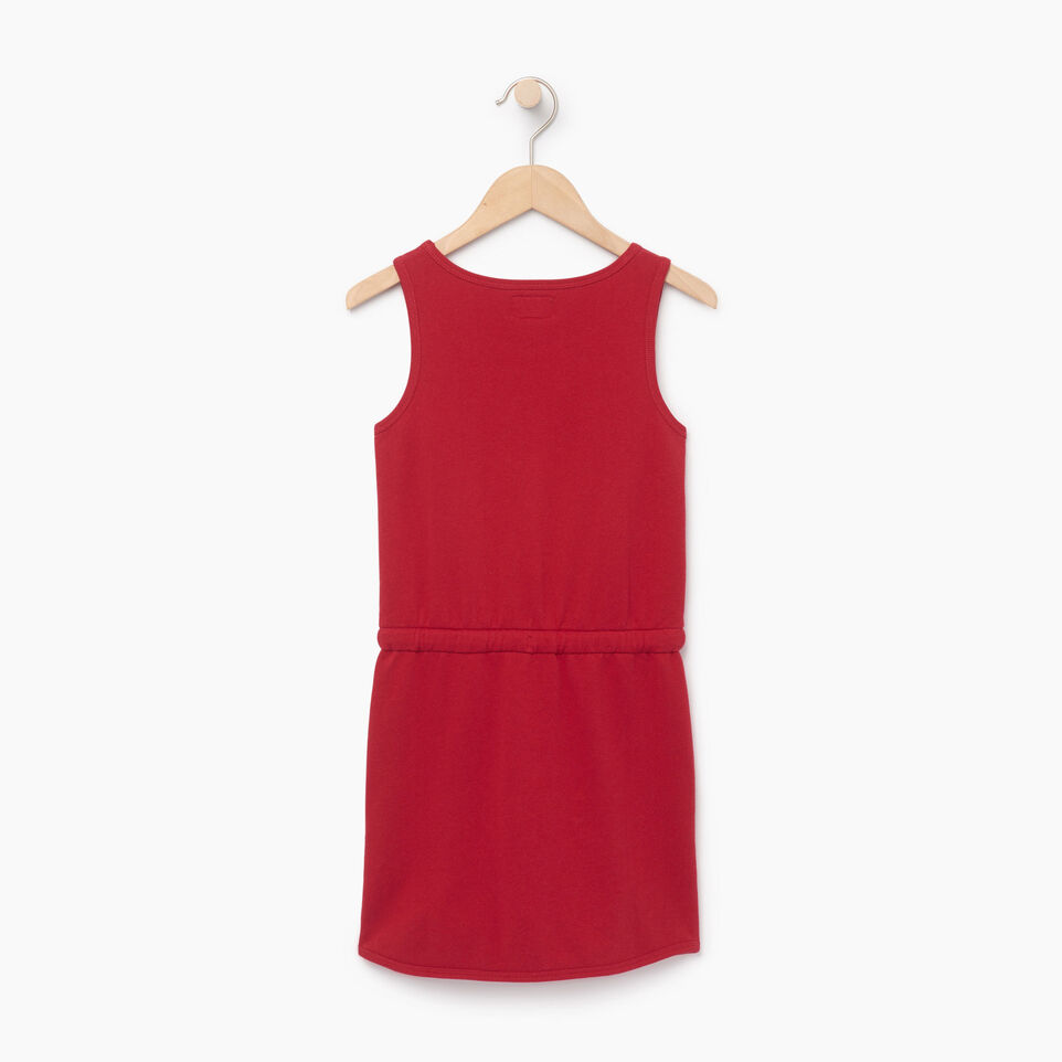 Roots-Clearance Kids-Girls Canada Tank Dress-Sage Red-B