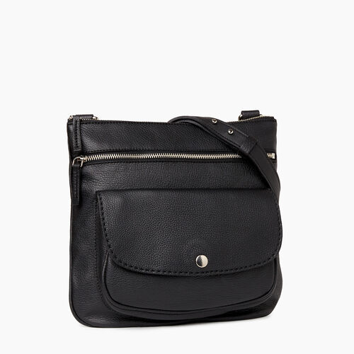 Roots-Leather Crossbody-Riverside Saddle-Black-A