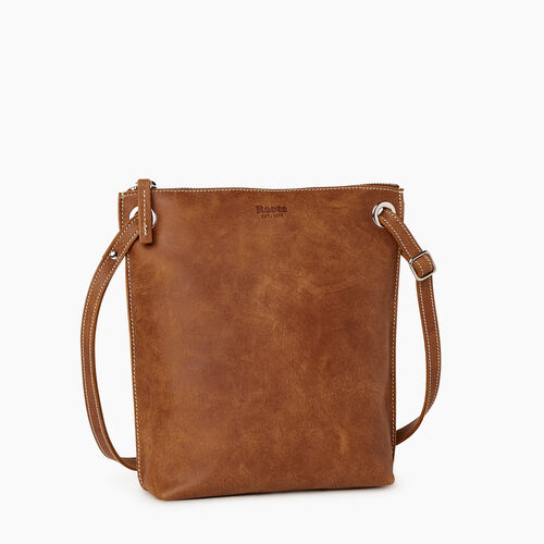 Roots-Leather Crossbody-Festival Bag-Natural-A