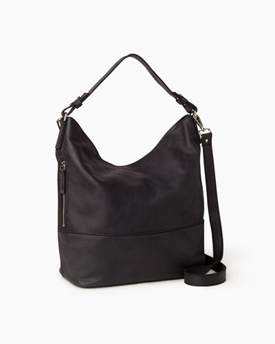 Roots-Leather Bestsellers-West End Hobo Tribe-Jet Black-A