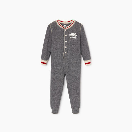 Roots-Kids Toddler Boys-Toddler Roots Cabin Long John-Salt & Pepper-A