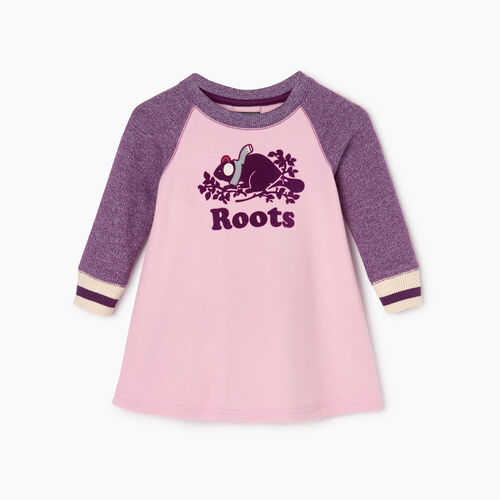 Roots-Sale Baby-Baby Buddy Cozy Fleece Dress-Grape Royale Pepper-A