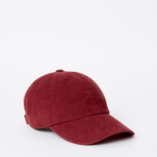 Roots-Sale Accessories-Roots Cord Baseball Cap-Northern Red-A
