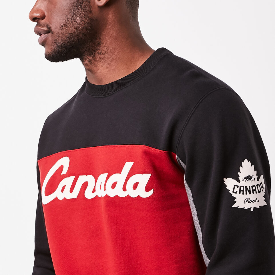 Roots-undefined-Canada Script Crew Sweatshirt-undefined-C