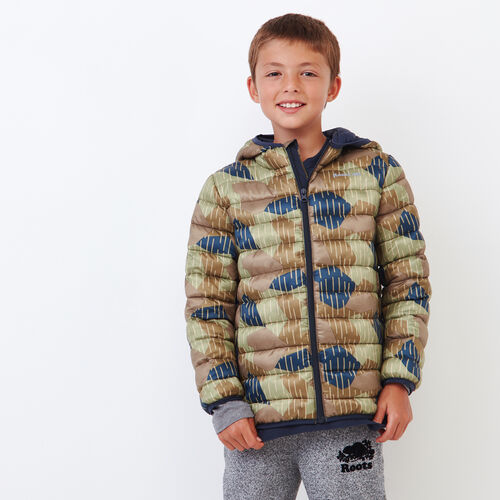 Roots-Kids Outerwear-Boys Roots Camo Puffer Jacket-Camo Print-A