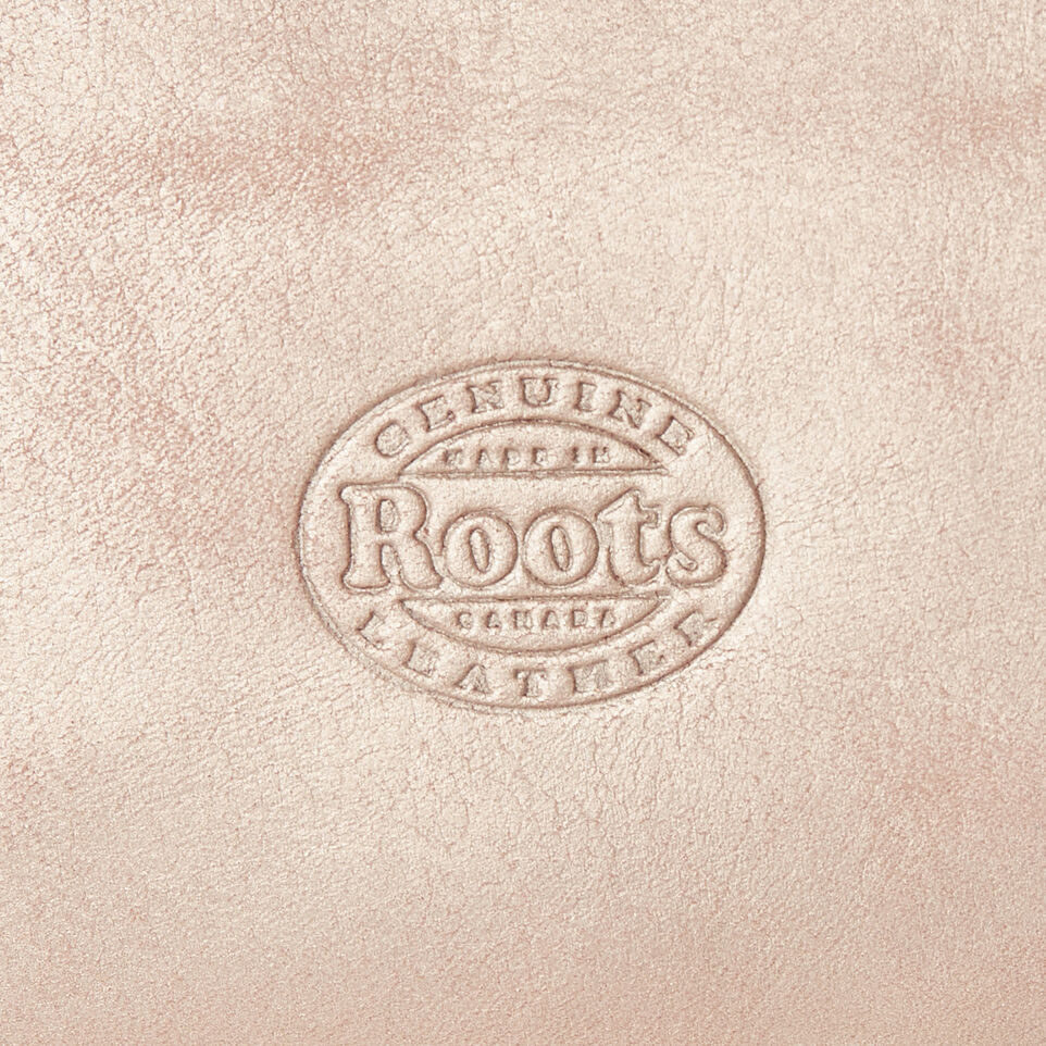Roots-Leather Our Favourite New Arrivals-Medium Zip Pouch-Champagne-C