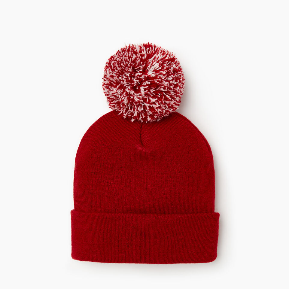 Roots-Women Categories-Cooper Beaver Pom Pom Toque-Cabin Red-D