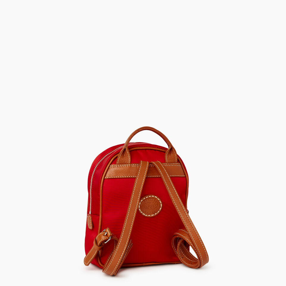 Roots-Cuir Sacs Style Urbain-City Chelsea Pack Nylon-Rouge-C
