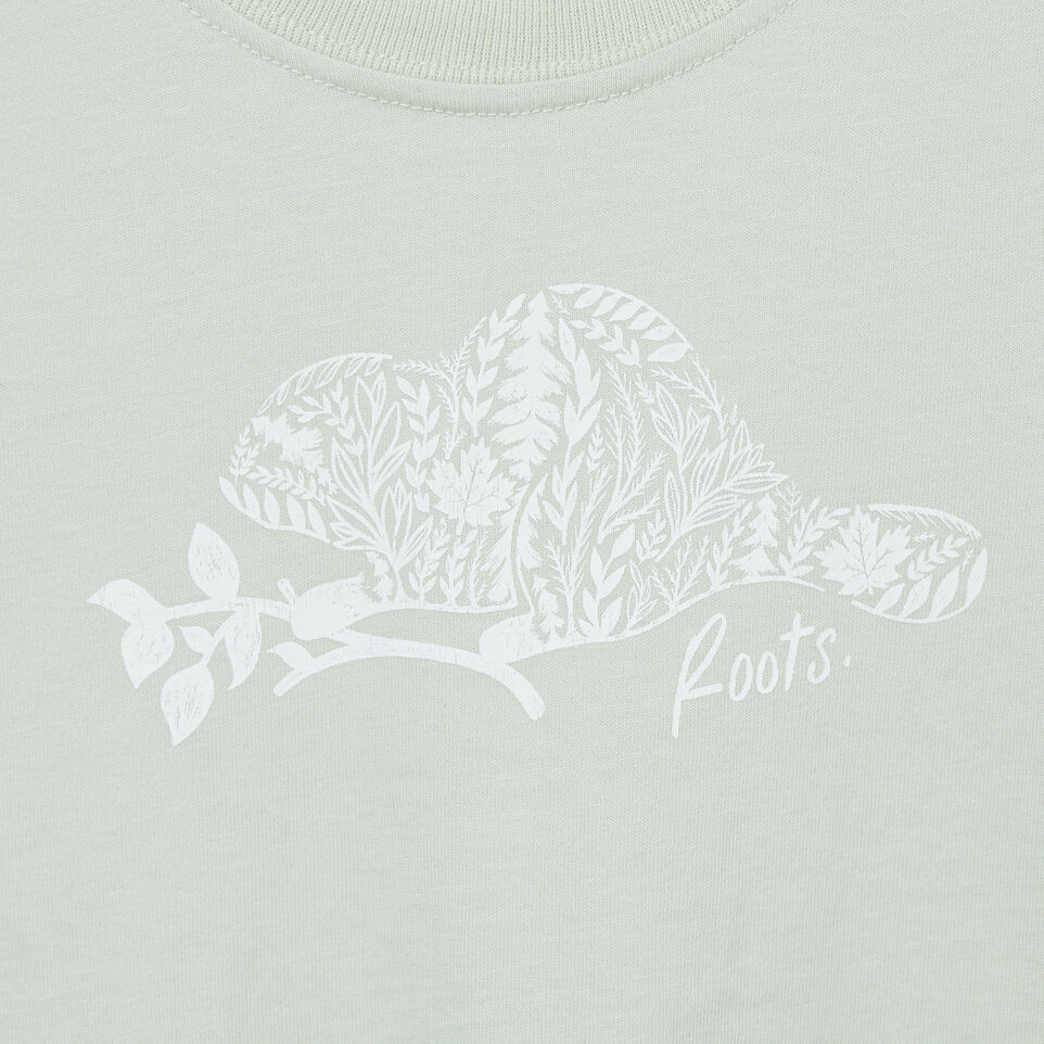 Roots-Kids New Arrivals-Baby Woodland Animal T-shirt-Sea Foam-C