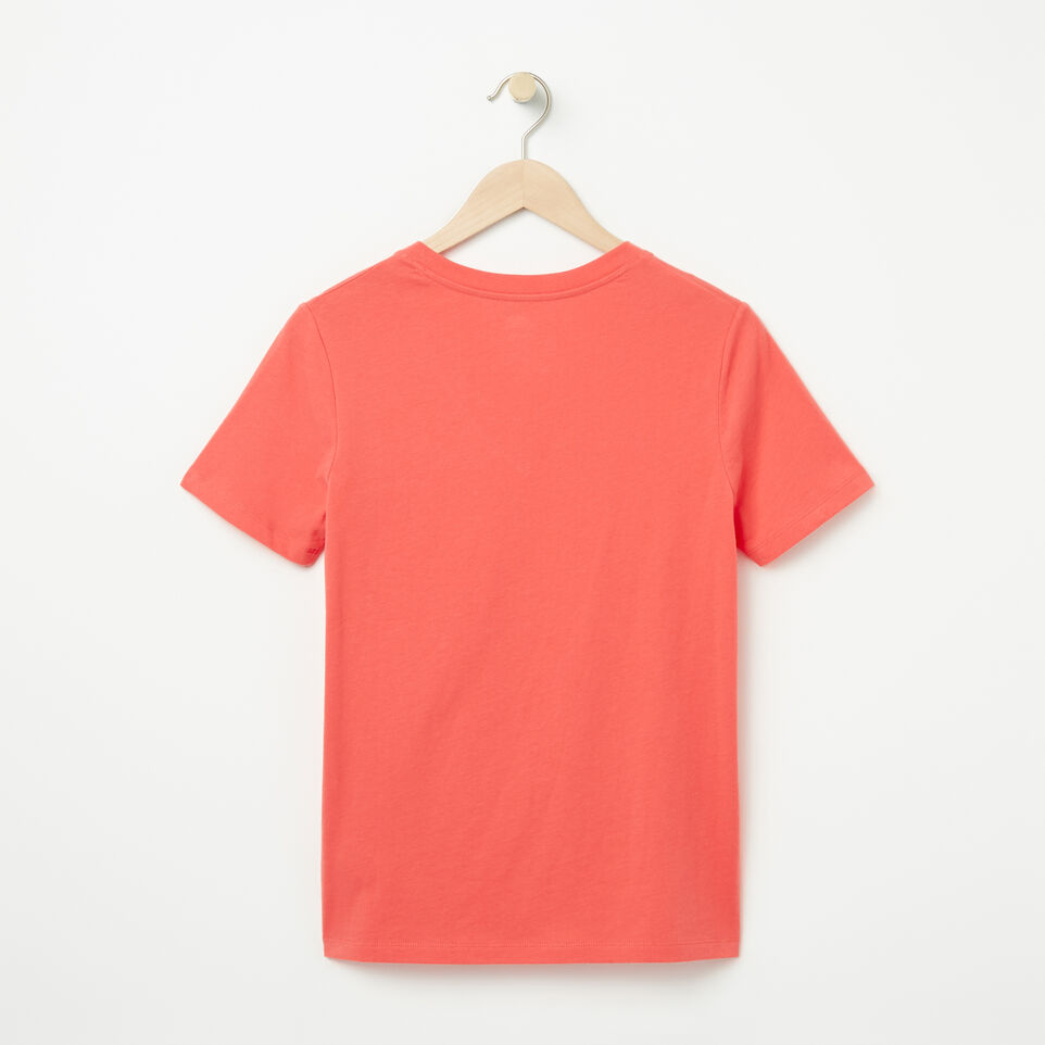 Roots-undefined-Womens Text V-neck T-shirt-undefined-B