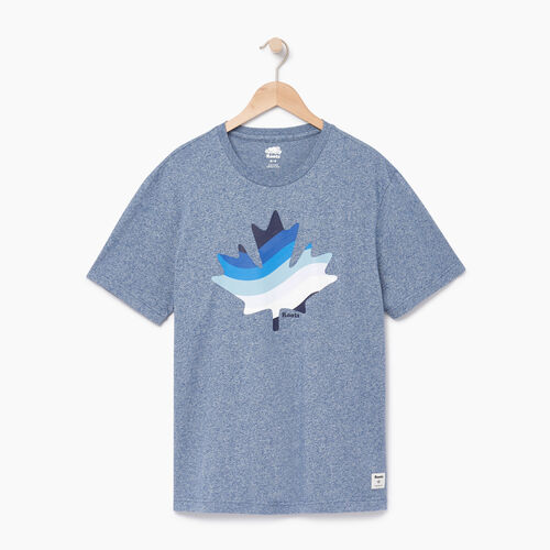 Roots-Men Our Favourite New Arrivals-Mens Free Waves T-shirt-Cascade Blue Pepper-A