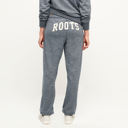 Roots-Women Bottoms-Original Boyfriend Sweatpant-Navy Blazer Pepper-A