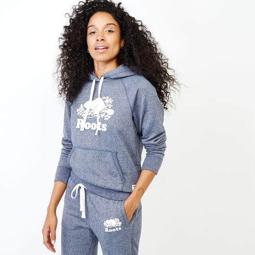 Roots-Women Categories-Original Kanga Hoody-Navy Blazer Pepper-A