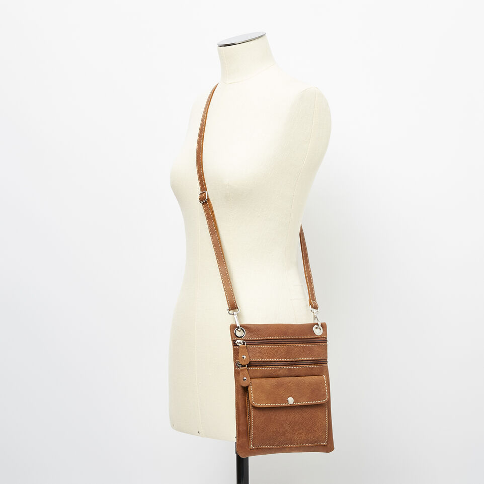 Roots-Leather Handbags-Urban Pouch-Natural-B