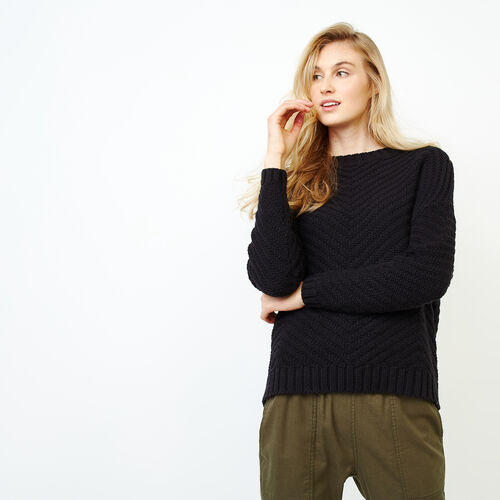 Roots-Women Sweaters & Cardigans-Elora Pullover Sweater-Black-A