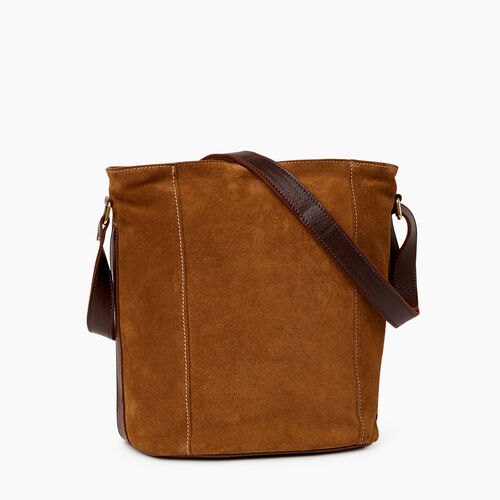 Roots-Leather Bestsellers-Victoria Bucket Suede-Tan-A