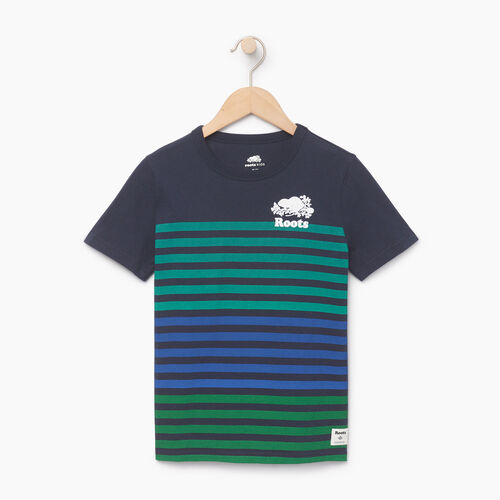 Roots-Kids Our Favourite New Arrivals-Boys Cooper Beach Stripe T-shirt-Navy Blazer-A