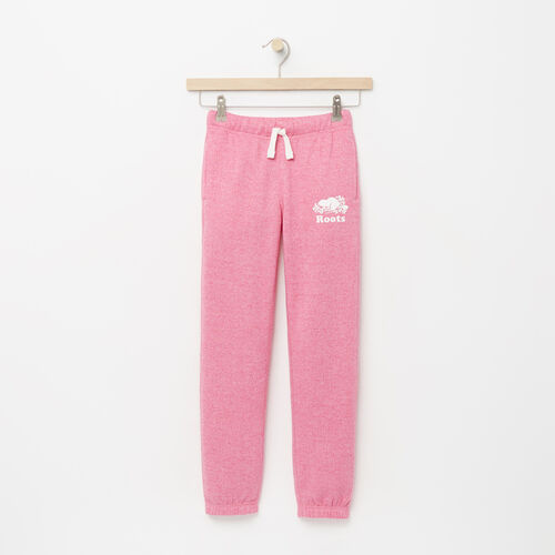 Roots-Kids Bottoms-Girls Original Roots Sweatpant-Azalea Pink Pepper-A