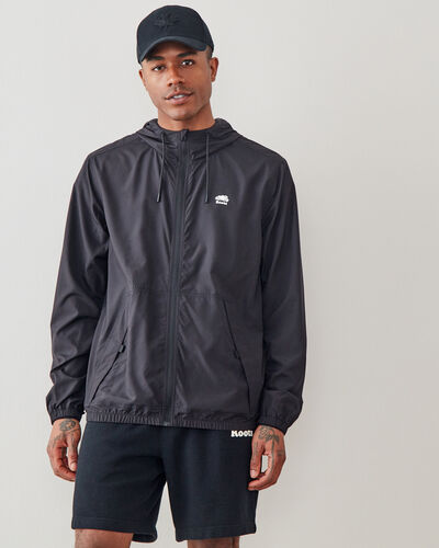 Roots-Men Jackets & Outerwear-Journey Packable Windbreaker-Slate-A