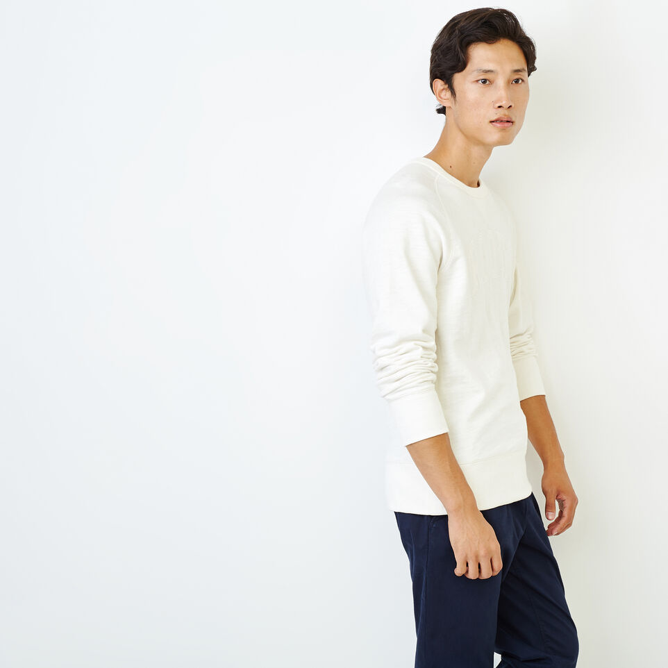 Roots-Men Our Favourite New Arrivals-50s Freedom Sleeve Crew Sweatshirt-Ivory-C