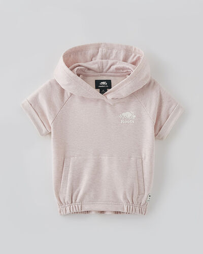 Roots-Sweats Toddler Girls-Toddler Woodland Hoody-Pale Mauve Mix-A