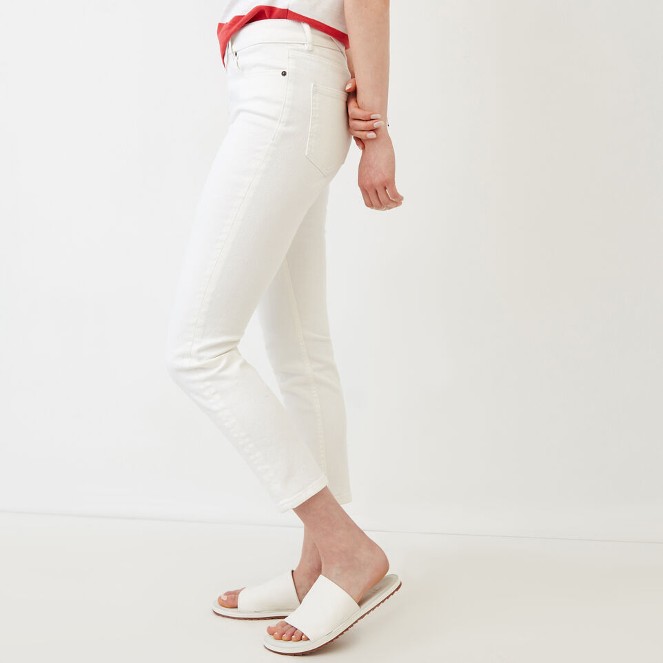 Roots-Women Our Favourite New Arrivals-Cropped Stretch Riley Jean-White-C