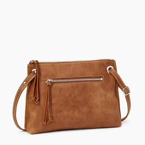 Roots-Leather  Handcrafted By Us Handbags-Edie Bag Tribe-Natural-A