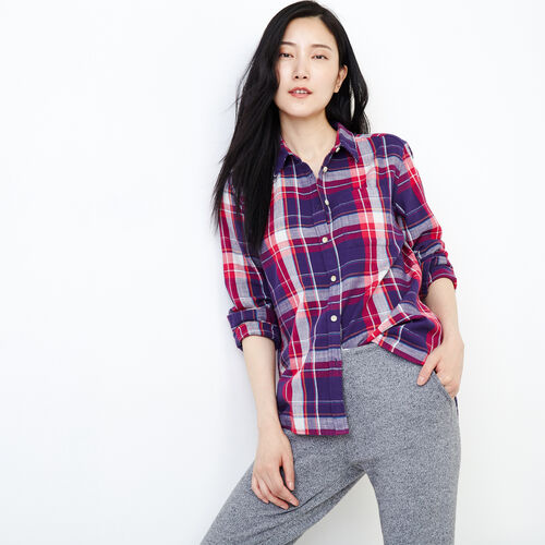 Roots-Women Our Favourite New Arrivals-All Seasons Relaxed Shirt-Pickled Beet-A