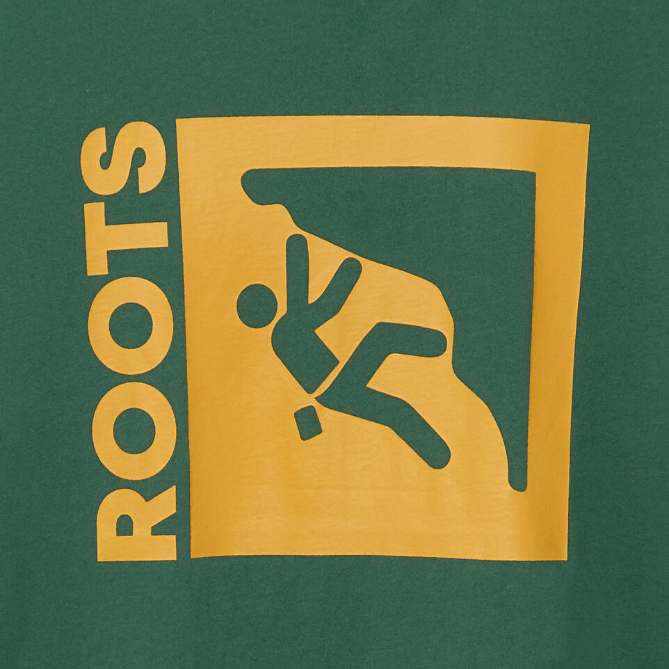 Roots-New For July Men-Mens Roots Outdoors T-shirt-Hunter Green-D