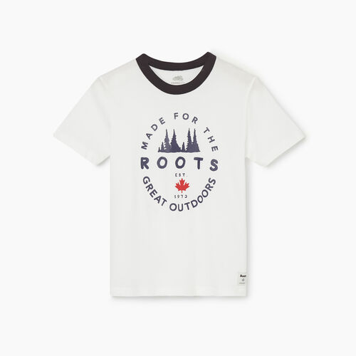 Roots-Kids New Arrivals-Boys Great Outdoors T-shirt-Ivory-A