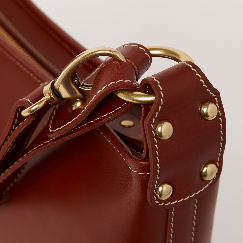 Roots-Winter Sale Leather-Feed Bag Heritage-Oak-D